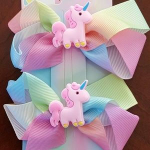 Set of 2 Unicorn Hair Bows